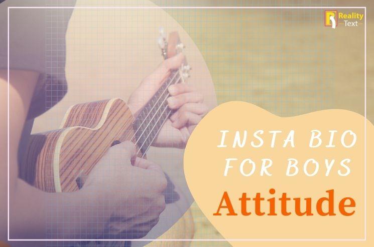 Insta Bio For Boys Attitude