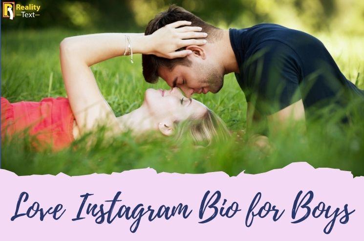 Love Instagram Bio for Boys