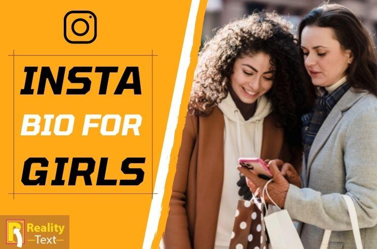 Insta Bio For Girls